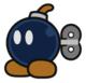 Bob-omb sprite from Paper Mario: Color Splash