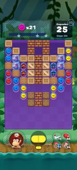 Stage 334 from Dr. Mario World since version 2.0.0