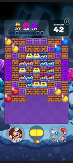 Stage 496 from Dr. Mario World