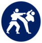 Event icon used for Karate - Kumite in Mario & Sonic at the Olympic Games Tokyo 2020