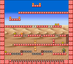 Level 8-8 map in the game Mario & Wario.