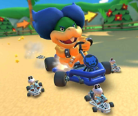 The icon of the Iggy Cup challenge from the 2019 Winter Tour and the Baby Peach Cup challenge from the Sydney Tour in Mario Kart Tour.