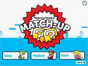 The title card of Mushroom Kingdom Match-Up