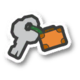The Trunk Key icon from Paper Mario: Color Splash