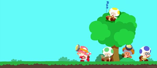 Captain Toad: Treasure Tracker wallpaper preview featuring the Toad Brigade