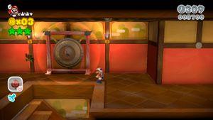 Luigi sighting in Hands-On Hall in Super Mario 3D World.