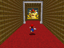 Mario entering Bowser in the Dark World