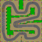 The map for Mario Circuit 3.