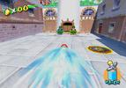 Mario using the Turbo Nozzle to access the Turbo Track.