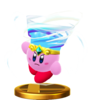 Tornado Kirby's trophy render from Super Smash Bros. for Wii U