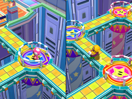 Wario in Spin Doctor from Mario Party 7