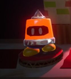 The Li'l Marcher enemy from Yoshi's Crafted World