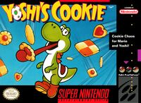 Yoshi's Cookie: Front cover, SNES version
