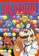 The NES front cover version of the game Dr. Mario
