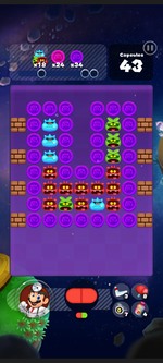 Stage 307 from Dr. Mario World
