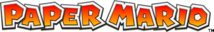 The current logo of the Paper Mario series