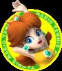 The icon artwork for Princess Daisy from Mario Tennis Open