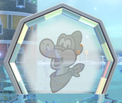 A Plessie Ring after its related mission has been completed in Super Mario 3D World + Bowser's Fury