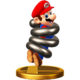 Spring Mario trophy from Super Smash Bros. for Wii U
