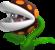 Artwork of a Fire Piranha Plant from Super Mario 3D Land