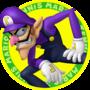 The icon artwork for Waluigi from Mario Tennis Open