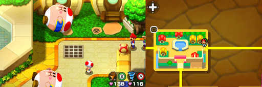 Location of the fifth beanhole in Toad Town.