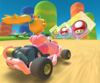 The icon of the Dry Bowser Cup challenge from the 2019 Winter Tour and the Luigi Cup challenge from the Pirate Tour in Mario Kart Tour.