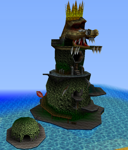 This is mechanical Crocodile Isle