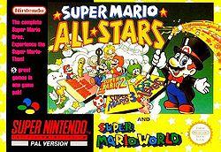 Super Mario All-Stars + Super Mario World PAL box art