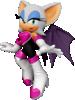 Rouge the Bat's Spirit sprite from Super Smash Bros. Ultimate