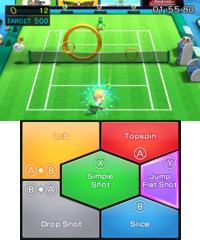 Ring Challenge in tennis in Mario Sports Superstars