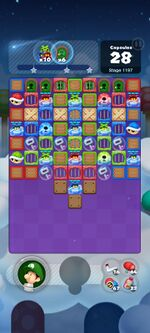 Stage 1197 from Dr. Mario World