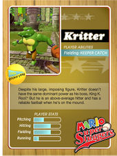 Level 1 Kritter card from the Mario Super Sluggers card game