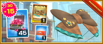 The Plaid Ribbon Pack from the Baby Rosalina Tour in Mario Kart Tour