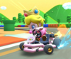 The icon of the Peach Cup challenge from the Peach Tour in Mario Kart Tour.