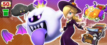 The Halloween Throwback Pipe from the Halloween Tour (2020) in Mario Kart Tour