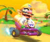 The icon of the Metal Mario Cup challenge from the Mario vs. Peach Tour in Mario Kart Tour.