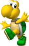 Artwork of Koopa Troopa from New Super Mario Bros. (later used in Mario Kart Wii, Mario Super Sluggers, Mario Kart 7, Super Mario Run and Mario Kart Tour)