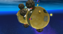 The Boulder Planet from Super Mario Galaxy, a double planet.