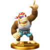 Funky Kong trophy from Super Smash Bros. for Wii U
