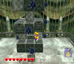 One of Greenhorn Ruins's red diamond sub-levels from Wario World.