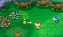 "A screenshot of the Bowser Jr.'s Journey level, ""Mario & Luigi?!"""