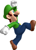 Luigi jumping NSMB side artwork.png