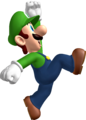 Luigi jumping NSMB side artwork.png