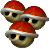 Triple Red Shells in Mario Kart: Double Dash!!.