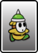 A Yellow Spike Guy card from Paper Mario: Color Splash