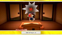 MAX UP Heart +5 from the House of Riddles in Paper Mario: The Origami King