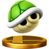 Green Shell's trophy render from Super Smash Bros. for Wii U
