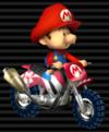 Baby Mario in the Standard Bike S from Mario Kart Wii