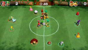 Just for Kicks minigame from Super Mario Party